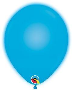 Q-LITE 5er LED BLUE Latexballon