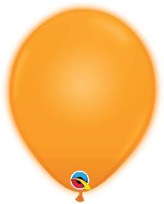 Q-LITE 5er LED ORANGE  Latexballon