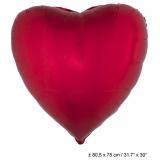 Folienballon: Herzform, rot, 80*75 cm