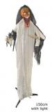 Stehender Kürbis-Zombie 150cm mit Licht