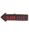 Wanddekoration 57cm BLOOD CAFE